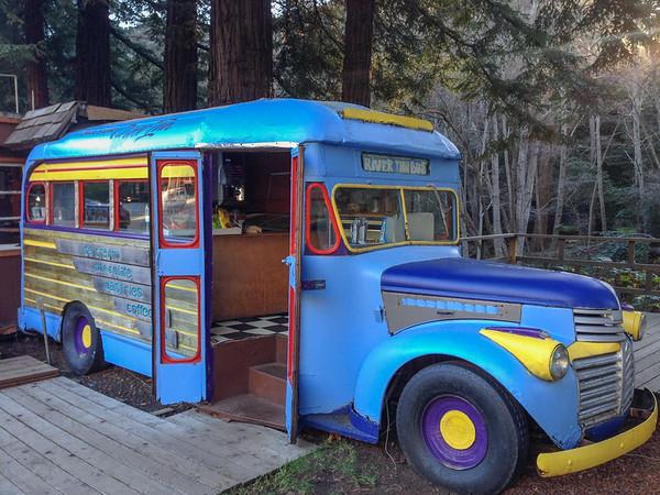 School bus snack stand | A Drive Through Big Sur, California