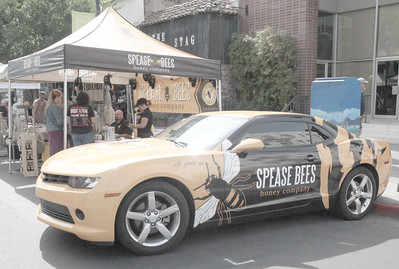 CINTIA LOPEZ - DAILY DEMOCRAT The Spease Bees car was on display at the California Honey Festival for people see and photograph.