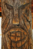 Palm Log Totem carved by Inuits that stayed at the Oasis with Paul Wilhelm