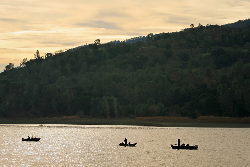 Three Fishing Boats, Lake Del Valle, Livermore CA