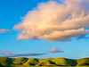 Green Hills and Orange Cloud No. 4