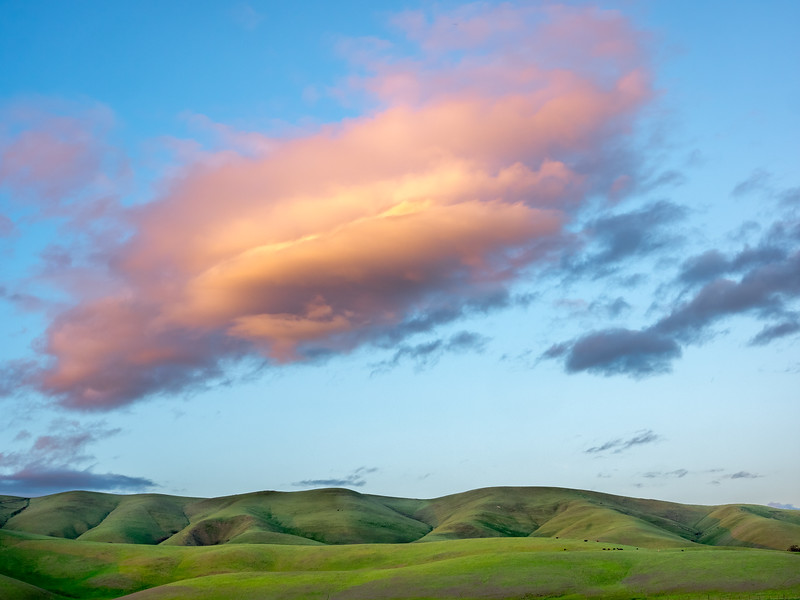 Green Hills and Orange Cloud No. 2