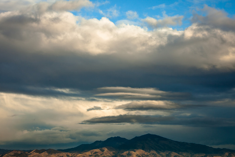 Afternoon Clouds over Mt Diablo, Berkeley CA