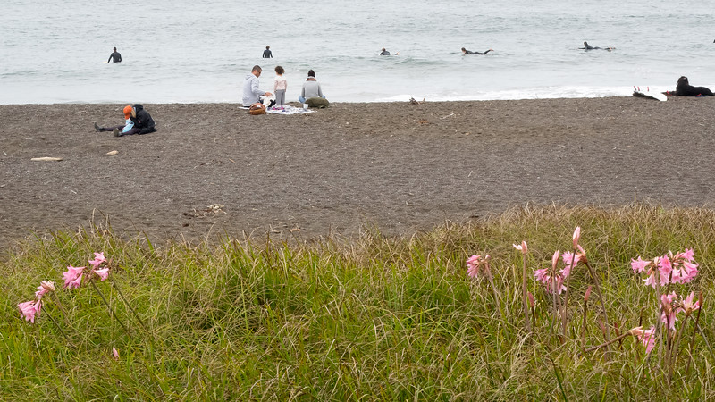 August Beach Scene