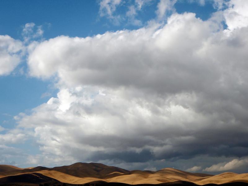 Hills, Clouds, Dappled Light, Near Los Banos CA