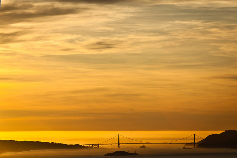 Orange Sky over Golden Gate, Berkeley CA