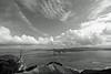 Boats Approaching Golden Gate, BW Version