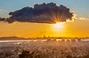 Big Cloud and Sun Star over SF Bay Area
