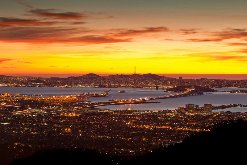 SF Bay After Sunset, Berkeley CA