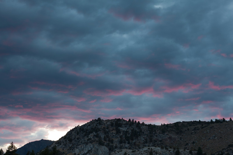 Pink Sunset Near June Lake CA