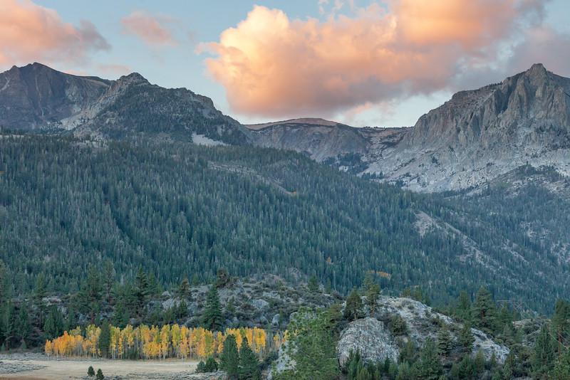 Autumn Morning Scene on Gull Lake, June Lake CA