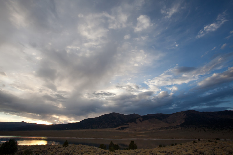 Dramatic Sky over Bridgeport Reservoir, CA
