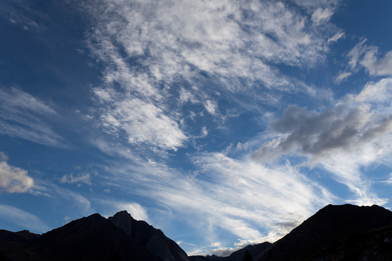 Mountains in Silhouette and Clouds Near Convict Lake II, CA