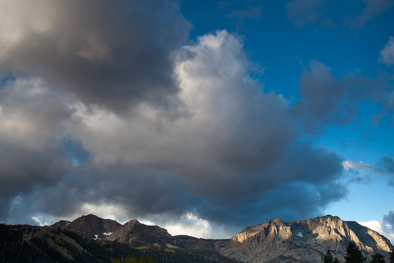 First Light on Mountains, June Lake CA
