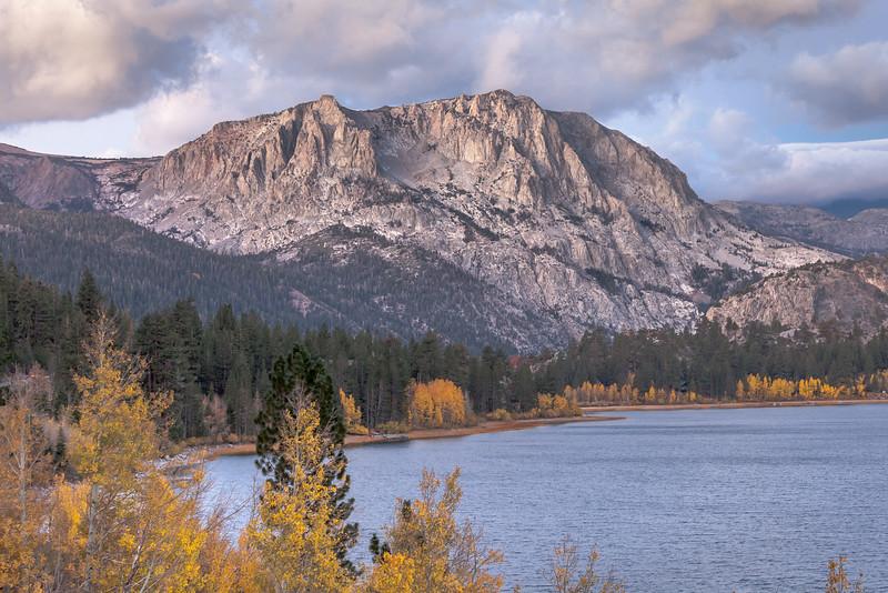 Early Morning Autumn Scene on June Lake, June Lake CA