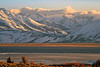Sky, Clouds, Mountains, Snow, Beach, Lake, Ice, and Land, Bridgeport Reservoir, CA