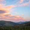 Pink Evening Clouds over Gold Lakes Basin