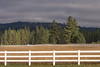 Brightly Lit Ranch Fence, Blairsden CA