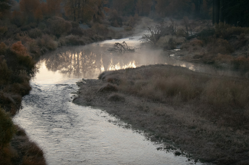 Morning Fog on Late Fall Morning, Middle Fork Feather River, Blairsden, CA