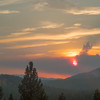 Monsoonal and Wildfire-Driven Sunset from Porch of Nakoma Lodge