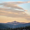 Pastel Evening Sky over Mountains
