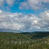 Train Trestle and Cloudy Landscape
