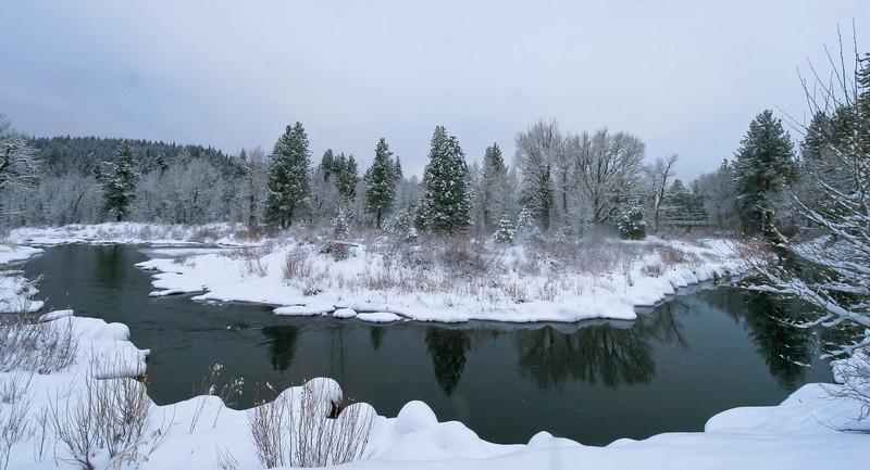 Snowy Bend in the Middle Fork Feather River, Clio CA