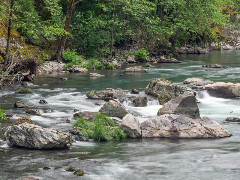 Upper McCloud River from Bridge at Ash Camp
