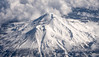 Winter View of Mt Shasta from Airplane
