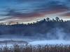 Pre-Sunrise Fog and Clouds over Baum  Lake