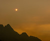 WIldfire-Colored Sun Descending over Castle Crags