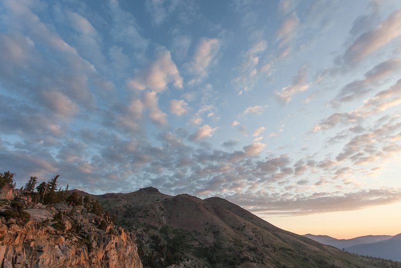 Early Morning Sierra Clouds and Mountains, Alpine County CA