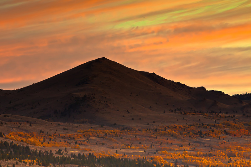 Sunrise and Fall Colors, Near Sonora Pass CA