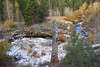 Dusting of Snow and Late Fall Foliage, Upper Little Truckee River, Near Highway 89, CA