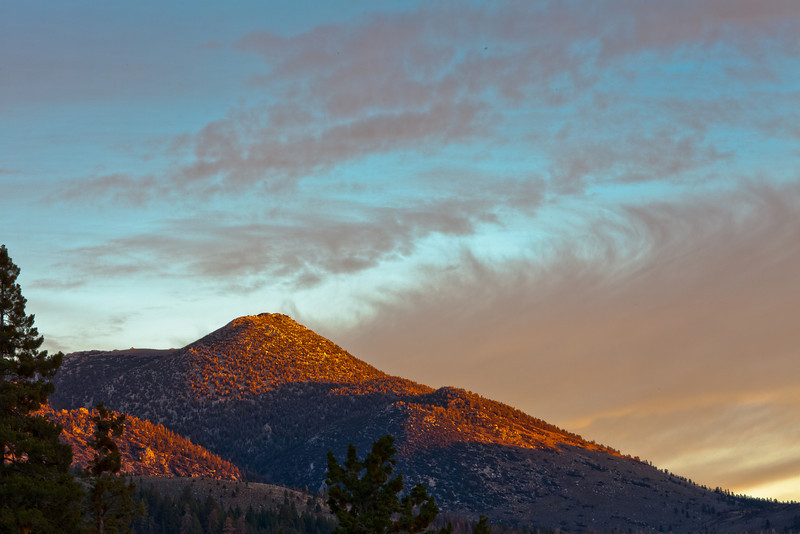 First Light on Peaks Near Sonora Pass