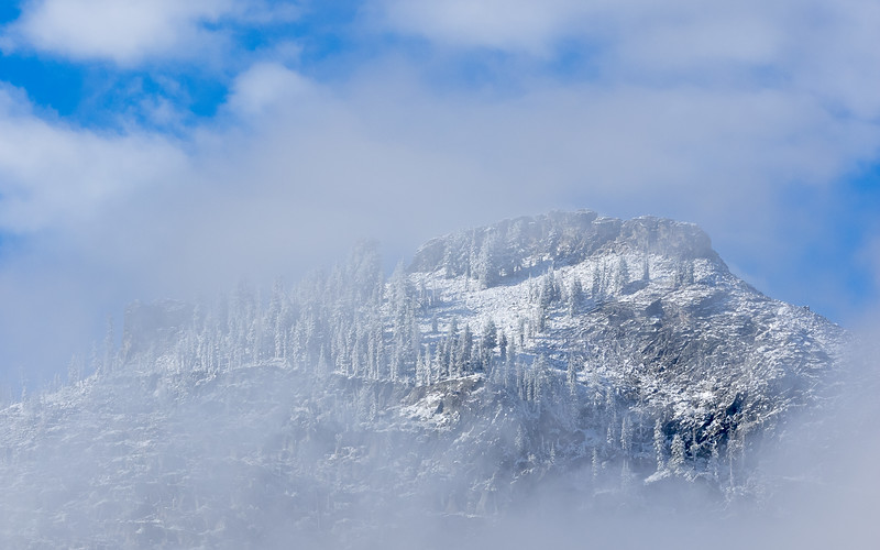 Fog, Clouds, and Fresh September Snow