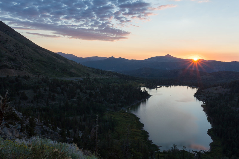 Sunrise over Red Lake, Alpine County CA