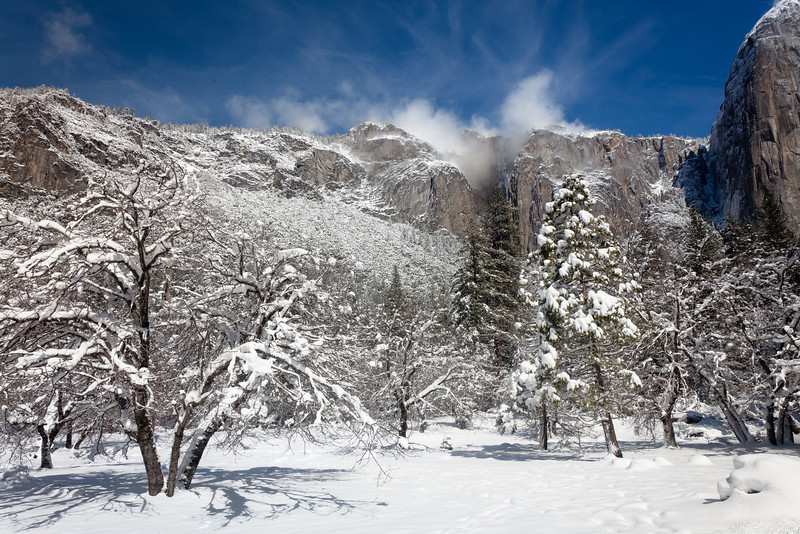 Spring Snow in Yosemite Valley