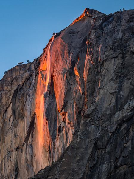 Horsetail Falls Firefall in Yosemite, February 2016
