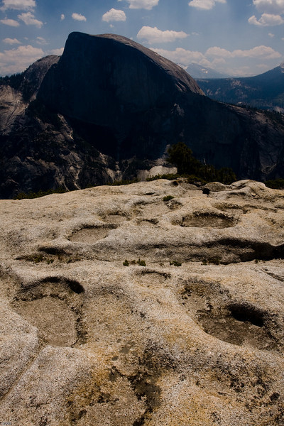 Half Dome as seen from the top of North Dome