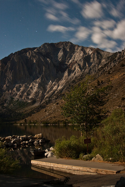 Convict Lake under full moon light