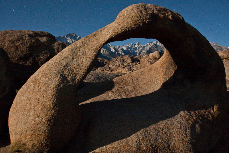 IMG_6171 Whitney Arch and Mt. Whitney at night