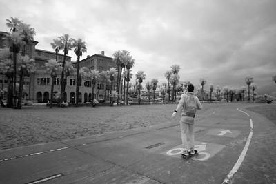 Sana Monica skateboarder