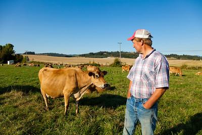 Portrait of Bob Bansen, a dairy farmer in Yamhill, Oregon