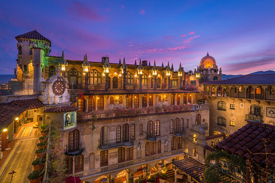 •	Sunrise at the Mission Inn Hotel & Spa, Riverside, California