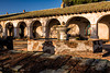 Fountain and courtyard, Mission San Miguel.