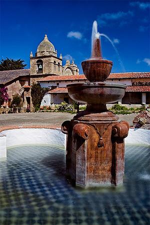 Fountain at Mission San Carlos.