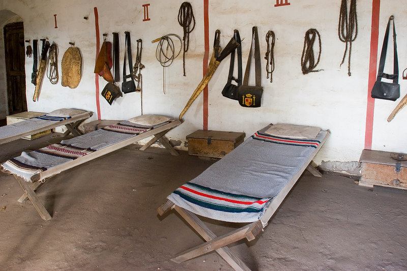 Living conditions were minimal for the soldiers of Mission La Purisima.