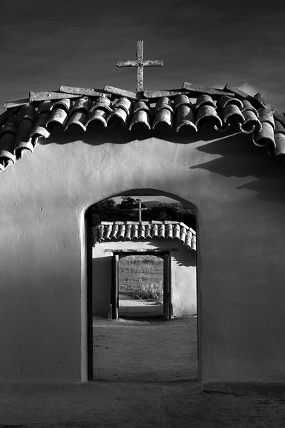 Mission La Purisima, entrance to the cemetery.