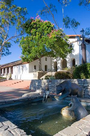 Fountain in courtyard of Mission San Luis Obispo.